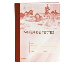 CAHIER DE TEXTES ROUGE