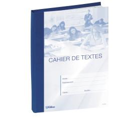 CAHIER DE TEXTES BLEU