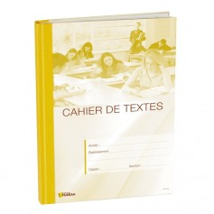 CAHIER DE TEXTES JAUNE
