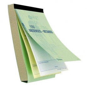 CARNET DE 100 BULLETINS ABSENCES ET RETARDS AUTOCOPIANTS