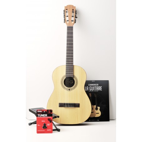 GUITARE OCCITANIA 44 JUNIOR 1/2 LAG OC44-2-PACK NATUREL VERNIS SATINE