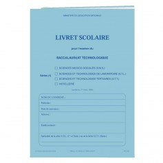 LIVRET SCOLAIRE HOTELLERIE
