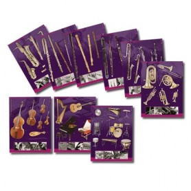 SERIE DE 9 POSTERS INSTRUMENTS ALL