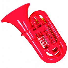 TUBA PLASTIQUE TIGER BY KINGSTON SIB T TUBAR ROUGE ET HOUSSE ET EMBOUCHURE