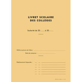 LIVRET SCOLAIRE DES COLLEGES