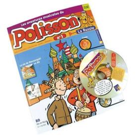 LES AVENTURES DE POLISSON EN RUSSIE LIVRET-CD