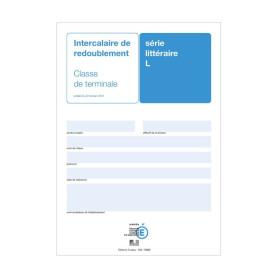 INTERCALAIRE DE REDOUBLEMENT TERMINALE L
