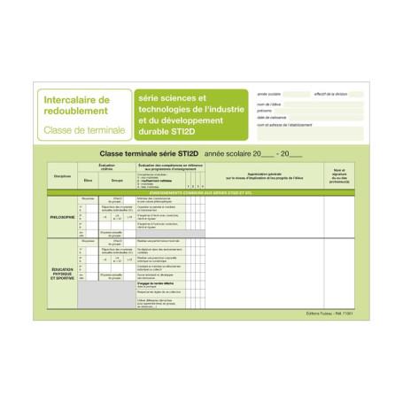 INTERCALAIRE DE REDOUBLEMENT TERMINALE STI2D
