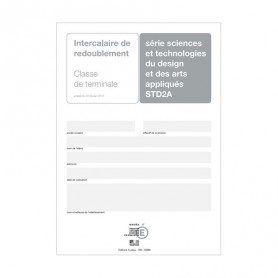 INTERCALAIRE REDOUBLEMENT TERM STD2A + ENCART