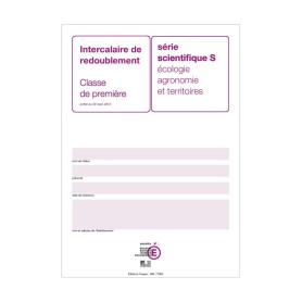 INTERCALAIRE REDOUBLEMENT 1ERE S AGRICOLE + ENCART