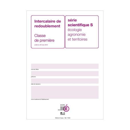 INTERCALAIRE DE REDOUBLEMENT 1ERE S AGRICOLE
