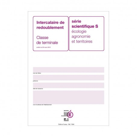 INTERCALAIRE RED. TERM S AGRICOLE PRUNE + ENCART