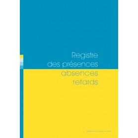 REGISTRE DES PRESENCES ABSENCES RETARDS 20 CLASSES
