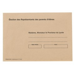 ENVELOPPES MME, M LE PROVISEUR coloris BULLE par paquet de 500