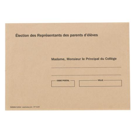 ENVELOPPES MME, M LE PRINCIPAL coloris BULLE par paquet de 500