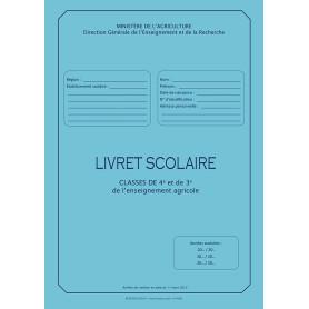 LIVRET SCOLAIRE 4E ET 3E AGRICOLE