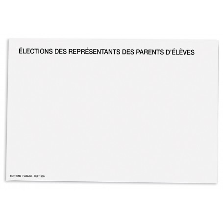 ENVELOPPES BLANCHES ELECTIONS