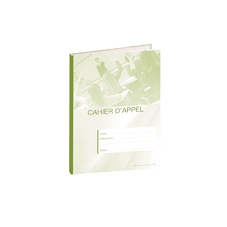 CAHIER D'APPEL 8 HEURES DE COURS VERT