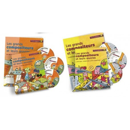 LOT DE 2 COFFRETS - LES GRANDS COMPOSITEURS