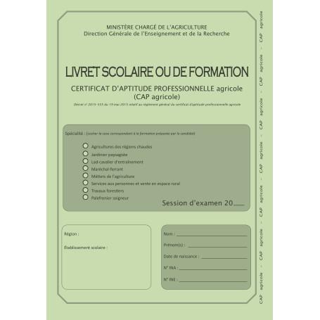 LIVRET SCOLAIRE CAPA
