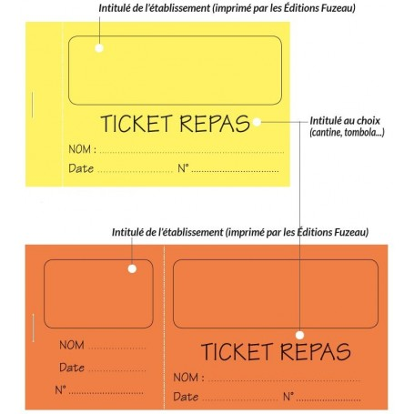 Tickets Personnalises Editions Fuzeau