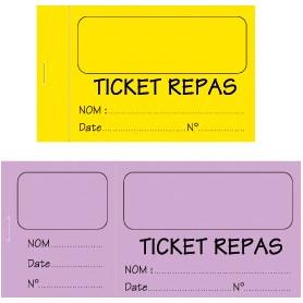 Tickets personnalisés (de cantine, de tombola...)