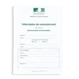 INTERCALAIRE REDOUBLEMENT BAC PRO 1ERE 2EME ET 3EME ANNEES