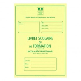 LIVRET SCOLAIRE BAC PRO AGRICOLE 3 ANS