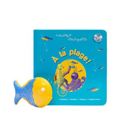 LIVRE-CD A LA PLAGE + SHAKER POISSON