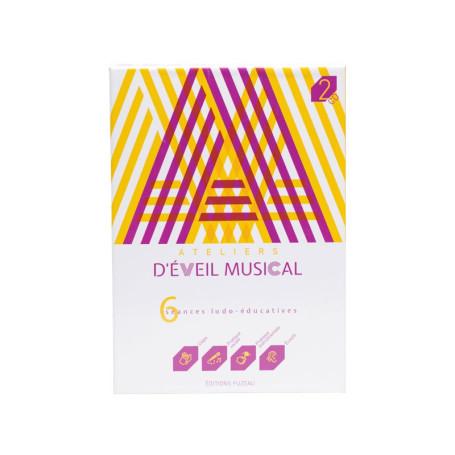 COFFRET LIVRE CD ATELIER D EVEIL MUSICAL JAUNE