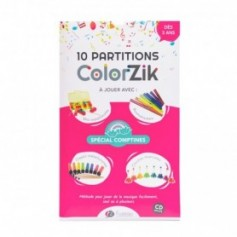 PARTITIONS FUZEAU + CD COLORZIK SPECIAL COMPTINES