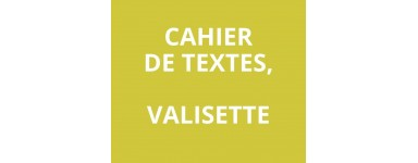 Cahier de texte, valisette