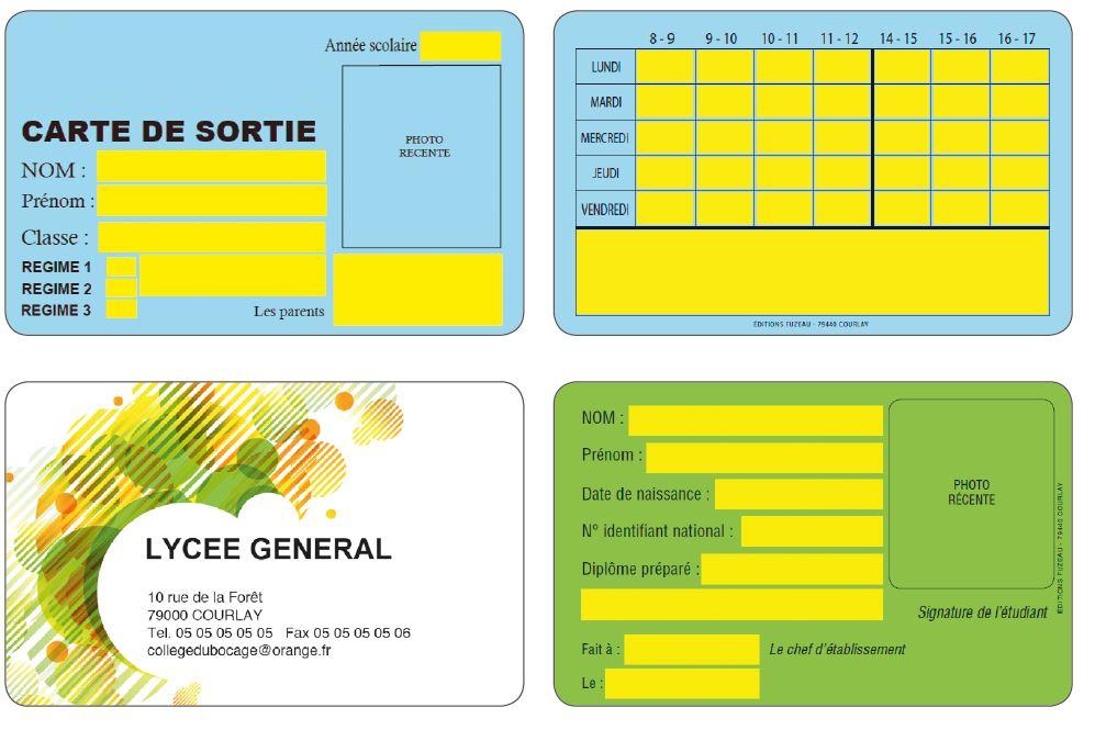 cartes pêrsonnalisées Fuzeau