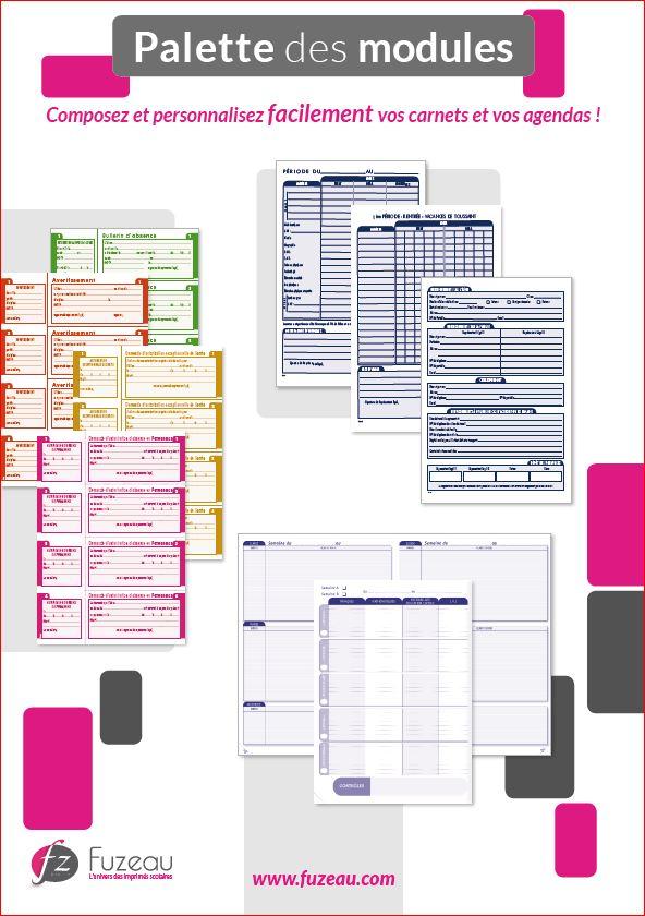 Palette des modules FUZEAU