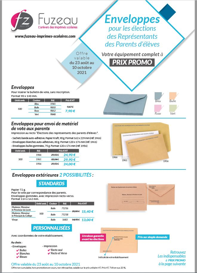 Les enveloppes à prix promo